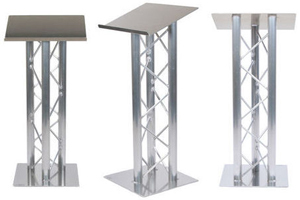 Rent truss style lecterns and podiums for outdoor stage rental at podium rental NYC.