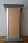 Acrylic Podium Lectern, lucite podium, Pulpit Plexiglass Lucite clear Wood Shelf Frame
