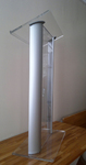 Clear Acrylic Lucite Podium Pulpit Lectern: av podium for stage equipment rental