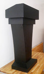 Floor-Standing Black Podium with  Wood Speaking Black Lectern with drawer and Storage Area