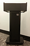 Rent a stage, rent podiums - Tradeshow podium, wooden podium