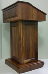 Rent presentation podiums, rent pulpit, rent AV lectern from AV NYC.