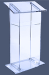 Rent lucite podium, lucite lectern, podiums and lecterns delivery, all event production.