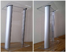 Best NYC lucite lecterns, lucite podiums, wooden lecterns, wooden pulpits, truss podiums from AV NYC.