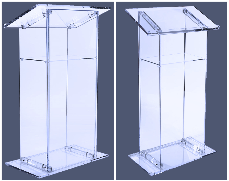 AV NYC business party planning, audio podiums, lucite lecterns, lucite podiums, all AV rental.