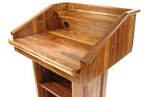 Rent wooden podiums, other podiums and lecterns, for presentation or ceremony in NYC.