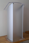 Acrylic Pedestal Lectern, lucite lectern, Presentation Podium for Standing Presenter