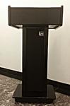 Rent a stage, rent podiums - Tradeshow podium, wooden podium