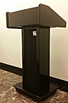 Podiums on portable platform stage: Staging services and podiums and lecterns rentals