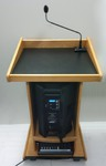Podium w/ microphone, ny wooden podium with microphone rental