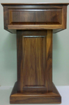 All AV presentation podiums, podiums with audio digital speakers, wooden podiums.